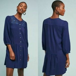 NEW Anthropologie Dubois Embroidered Tunic Dress